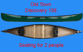 We offer an Old Town Discovery 158 for Canoe Rentals on Tilghman Island